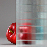 Corduroy - Pinstripe Weave Laminated Glass